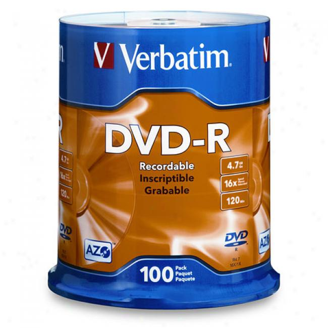 Verbatim 16x Dvd-r Unwrought piece Media