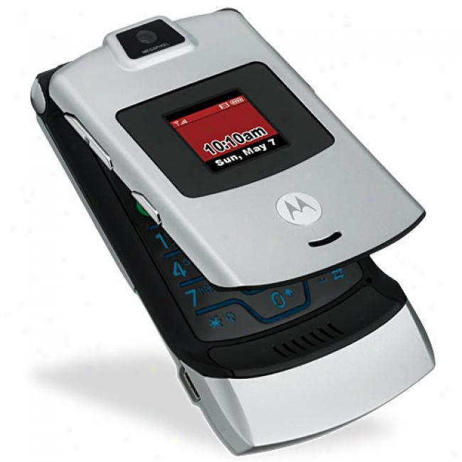 Verizon Wireless Motorola Razr V3m Prepaid Phone With Camera And Speakerphone
