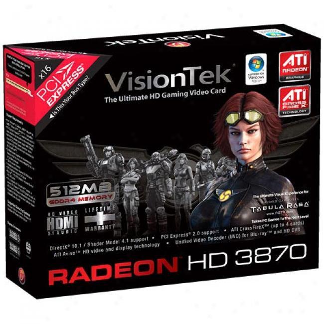 Visiontek Radeon Hd 3870 512mb Pci-express Video Card