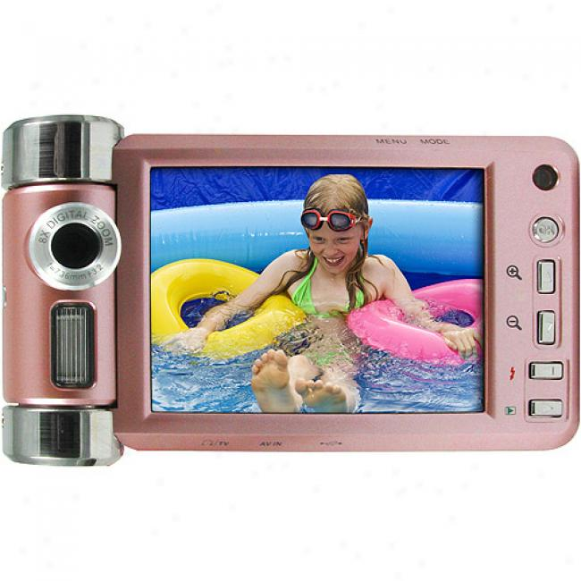 Vistaquest Dv-800hd Pink Digital Camcorder W/ 3.0