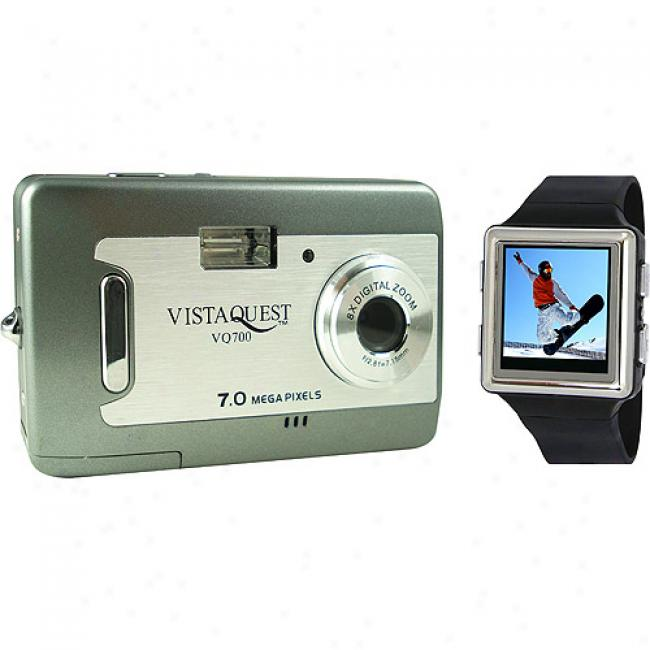 Vistaquest V700 Gray 7 Mp Digital Camera & 2.4