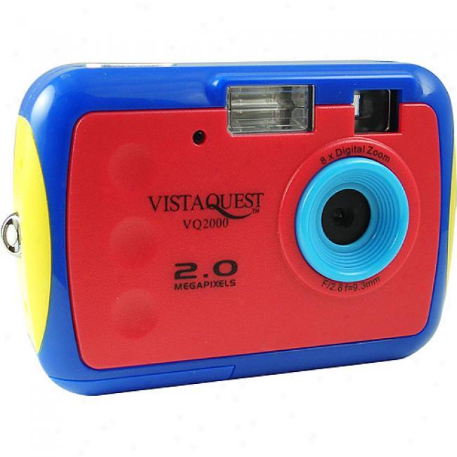 Vistaquest Vq-2000 Blue 2mp Digital Camera