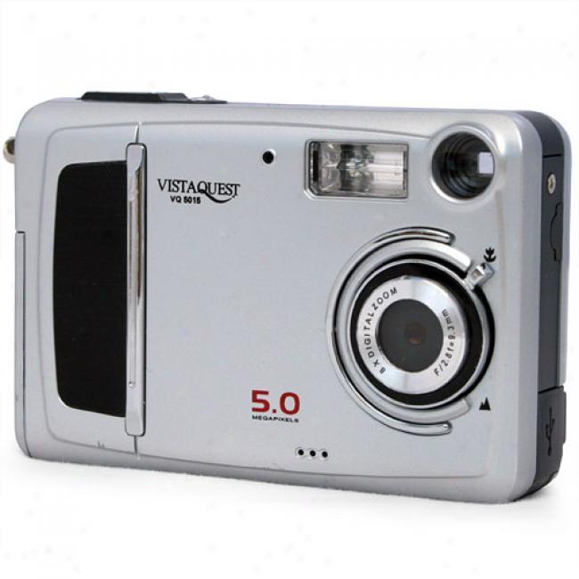 Vistaquest Vq-5015 Silver 5 Mp Digital Camer aW/ 8x Digital Zoom