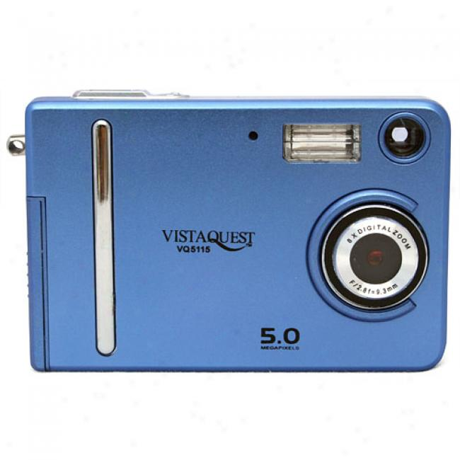 Vistaquest Vq-5115 Blue 5 Mp Digital Camera