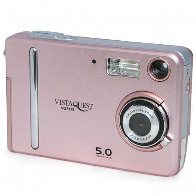 Vistaquest Vq-5115 Pink 5 Mp Digital Camera