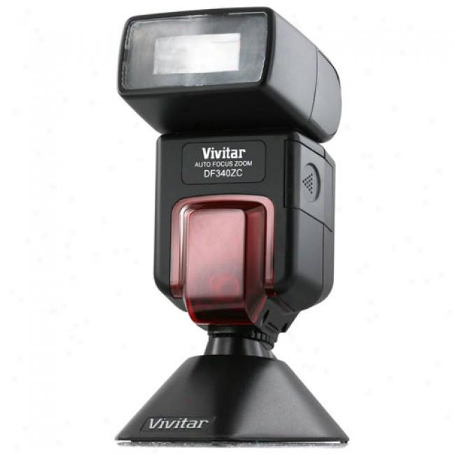 Vivitar Zoom And Bounce Flash 340z For Canon Digital Sor Cameras