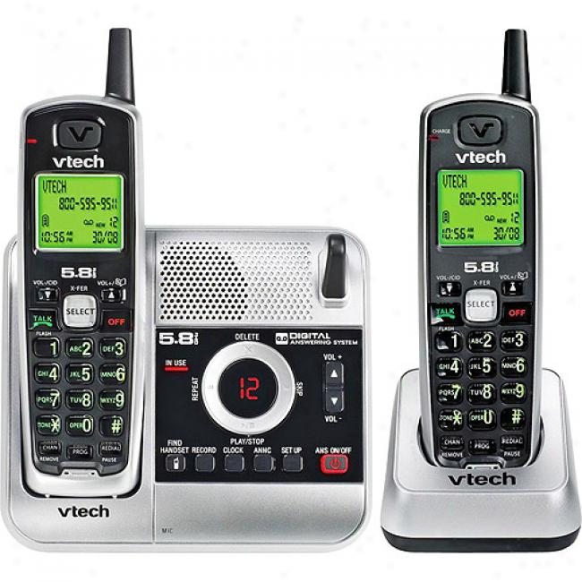 Vtech 5.8 Analog 2 Handset Bundle With Caller Id And Itad