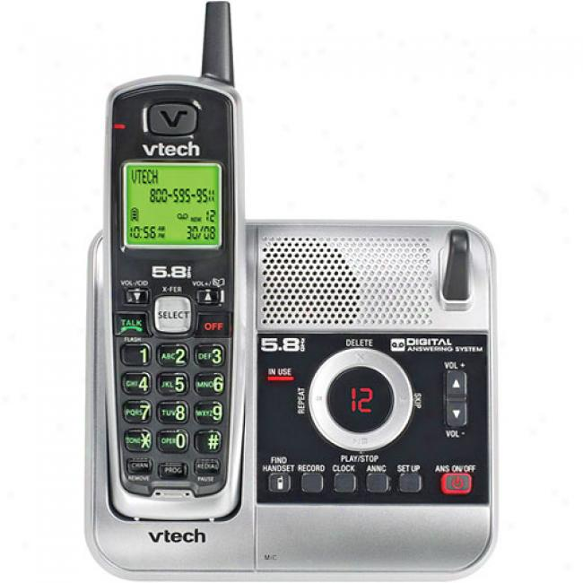 Vtech 5.8 Analog Phone With Caller Id And Itad