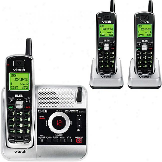 Vttech 5.8a Phone Bundle 3 Pack With Caller Id And Answering System