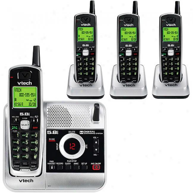 Vtech 5.8a Phone Bundle 4 Pack With Caller Id And Answering System