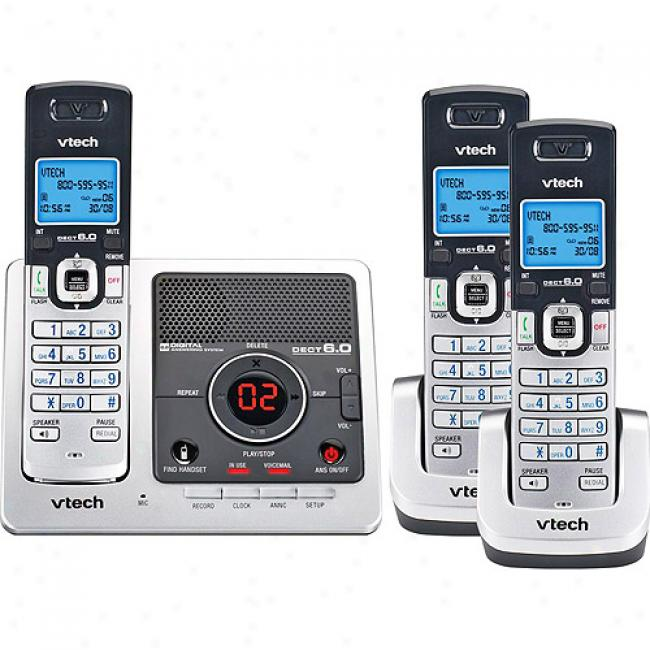 Vtech Dect 6.0 Pgone System W/ Three Handsets, Calle rId & Answerer
