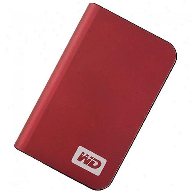 Western Digital 250gb My Passport Elite Portable Grievous Drive, Cherry Red