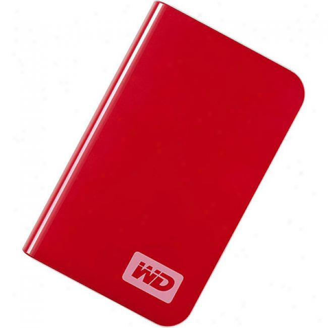 Western Digital 250gb My Passport Essential Portable Extrinsic Excessive Drive, Cherry Red