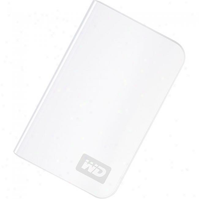 Western Digital 320gb My Passport Essential Portable External Hard Drive, White