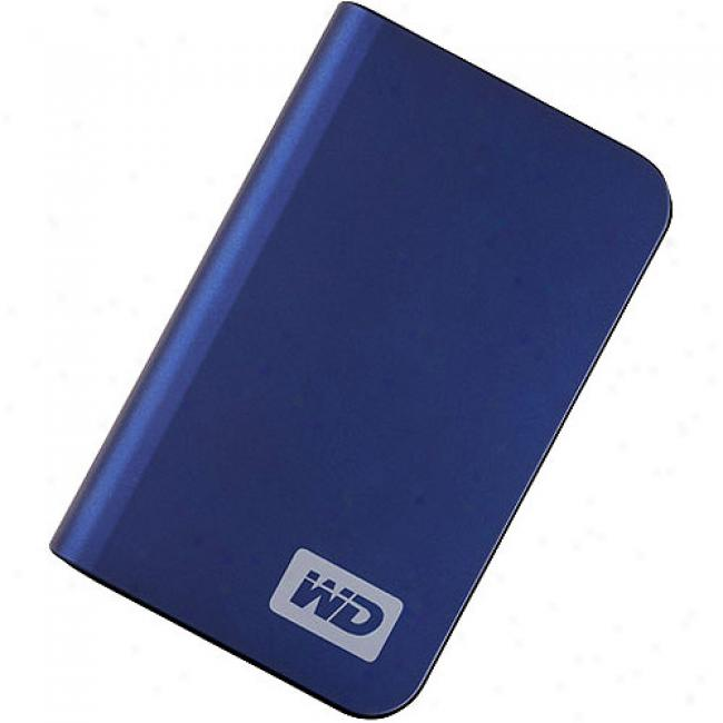 Western Digital 320gb My Passport Elite Portable Hard Drive, Westminister Blue
