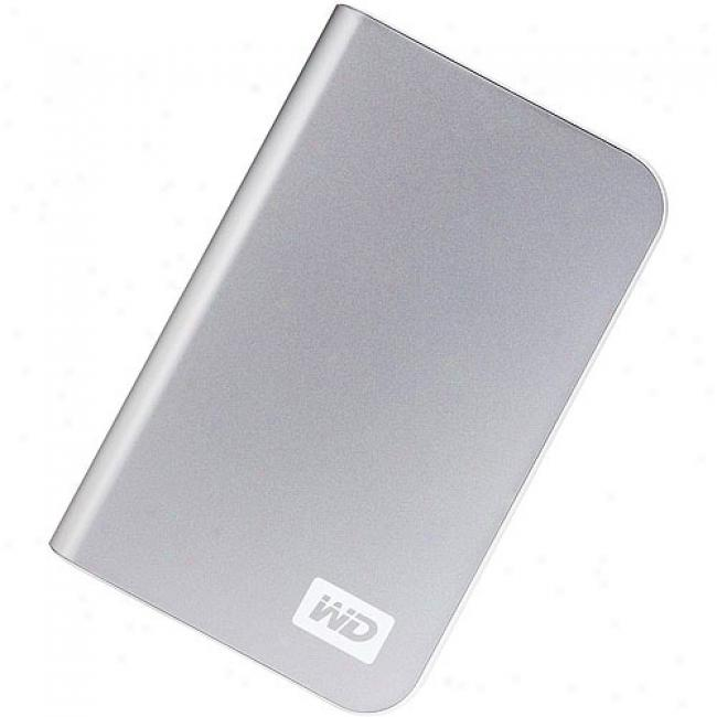 Western Digital 400gv My Passport Essential Portable External Hard Drive, Silver