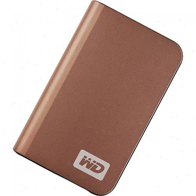 Wstern Digital 400gb My Passport Elite Portable External Hard Drive, Bronze