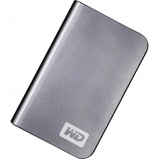 Western Digital 400gb My Passporf Elite Portable Externwl Hard Drive, Titanium