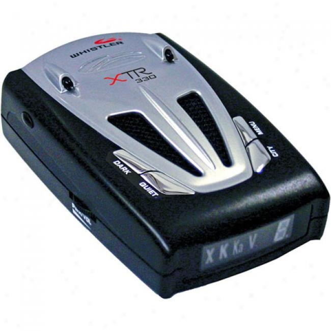 Whistler - Radar/laser Detector With Voice Alert, Xtr-330
