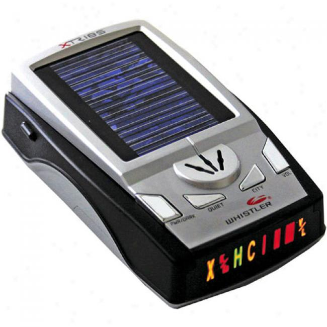 Whistler - Solar Enhanced Battery Operated Radar/laser Detector, Xtr-185