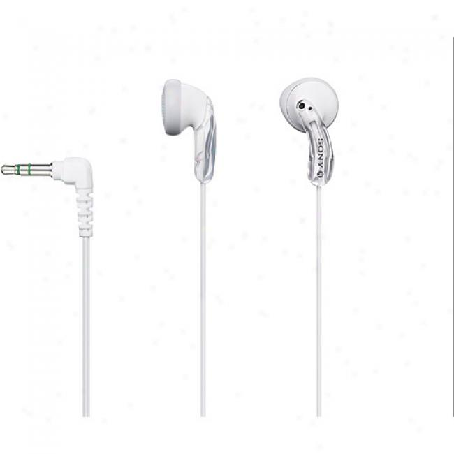 White Fashion Earbud Headphones