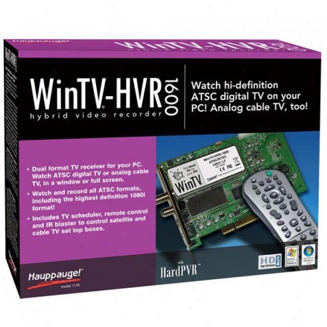 Wintv Hvr-1600 Dual Analog & Digital Tv Tuner Card