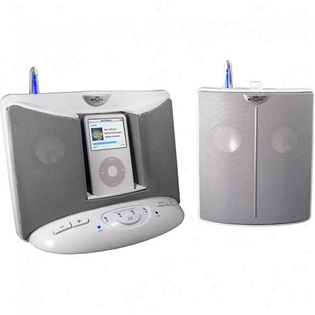 Wireless Digital Wire1ess Speaker Sytem For Ipod - White