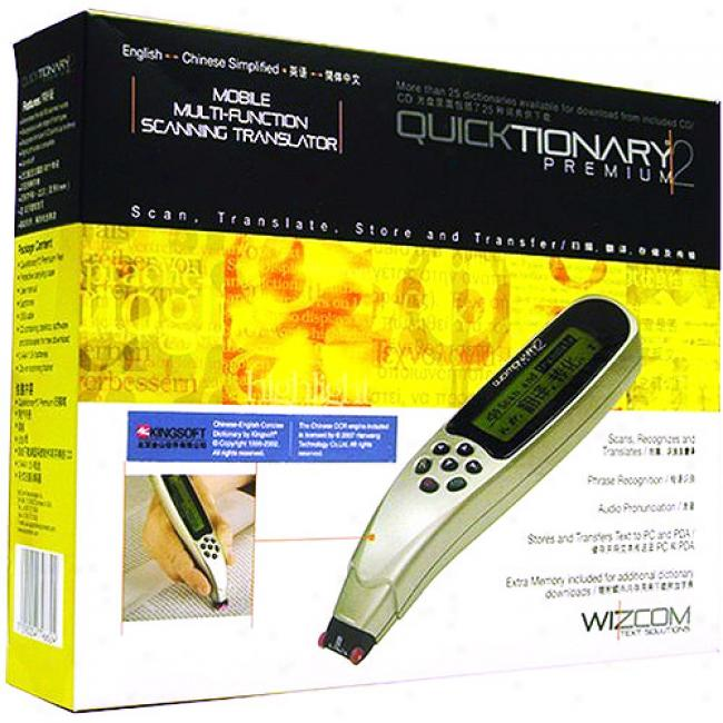 Wizcom Quicktinoary 2 Premium Chinese Pen Scanner