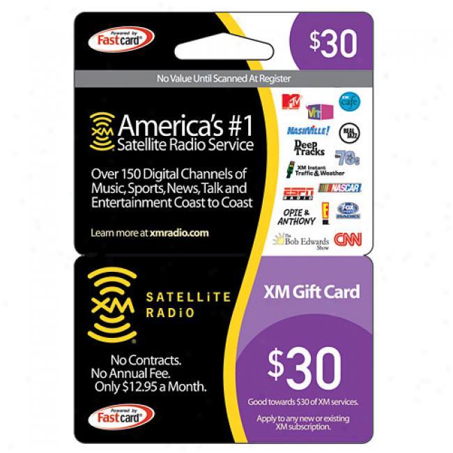 Xm Satellite Radio $30 Prepaid Subscription Card
