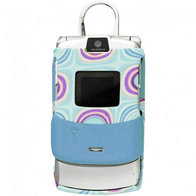 Yors FashionB lue Molded Case For Motorola Razr V3