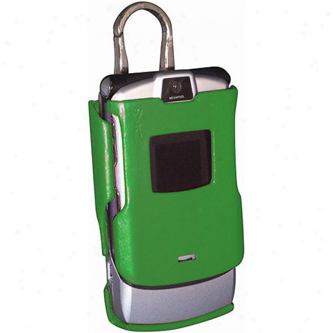 Yors Fashion Green Molded Case For Motorola Razr V3