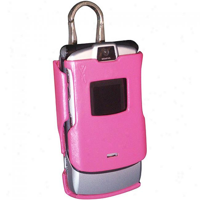 Yoors Fashion Pink Molded Case For Motorola Razr V3