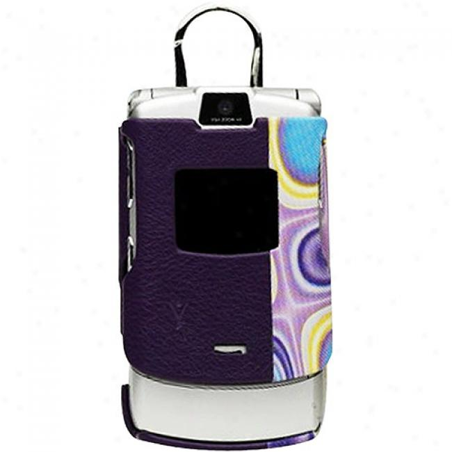 Yors Fashion Purple Molded Case For Motorola Razr V3