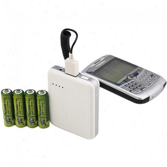 Zap! Combk Charger For Aa Batteries, Cell Phones And Mp3 Players, Rx4