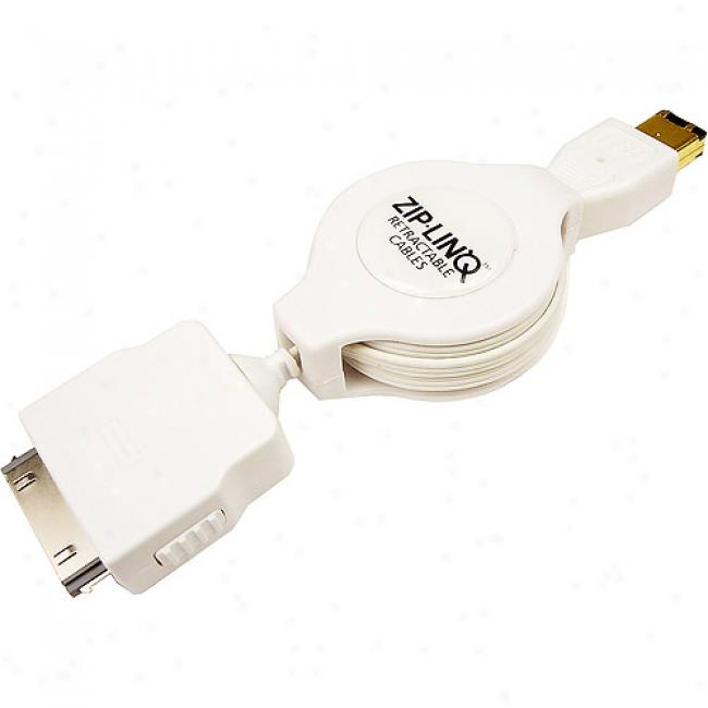Zip-linq Retractable Firewire Cable For Ipod