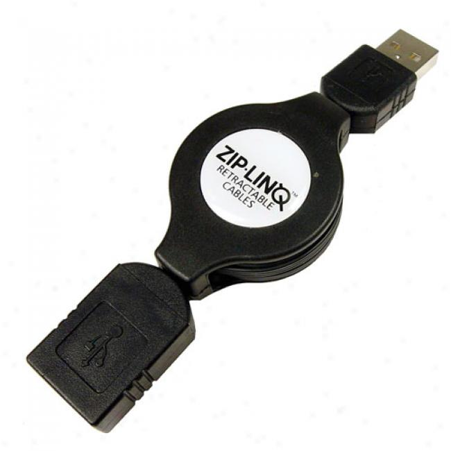 Zip-linq - Retractable Usb 2.0 Extension Cable