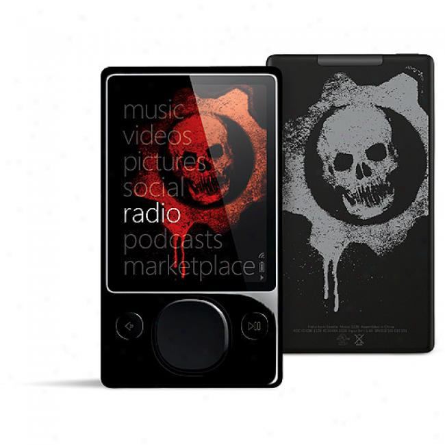 Zune 120gb Gears Of War 2 Mp3 Video Player