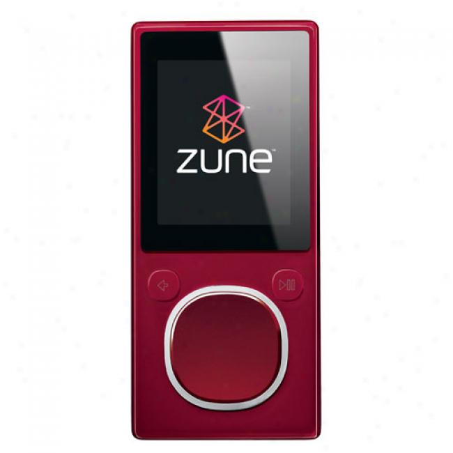 Zune 8gb pM3 Video Player, Red
