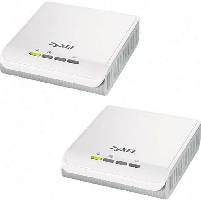 Zyxel Homeplug A/v Powerline Ethernet Adapter Kit