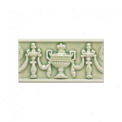 Adex Usa Hampton Listello Empire 3 X 6 Green Tile & Stone