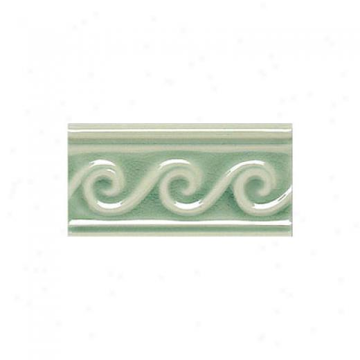 Adex Usa Hampton Listello Waves 3 X 6 Green Tile & Stone