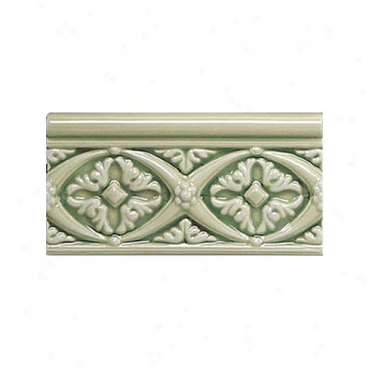 Adex Usa Hampton Listello Byzantine 3 X 6 Green Tile & Stone