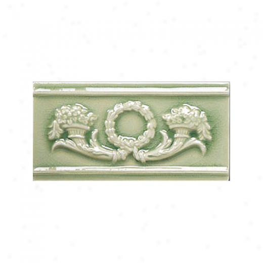 Adex Usa Hampton Listello Renaissance 3 X 6 Green Tile & Stone