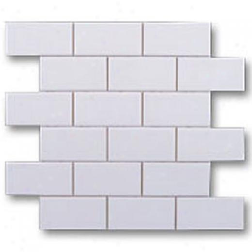 Adex Usa Hampton Mosaic 2 X 4 White Tile & Stone