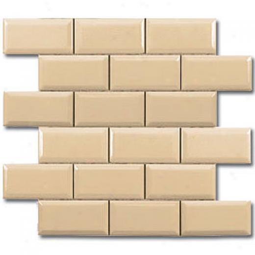 Adex Usa Hampton Mosaic Beveled 2 X 4 Sand Tile & Stone