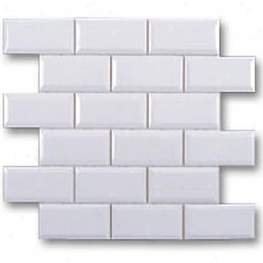 Adex Usa Hampton Mosaic Beveled 2 X 4 White Tile & Stone