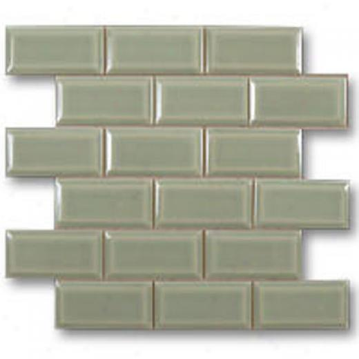 Adex Usa Hampton Mosaic Beveled 2 X 4 Green Tile & Stone