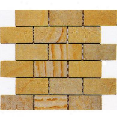Alfagres Tumbled Marnle Brick Patterns 1 X 2 Brick Dorado Pc668