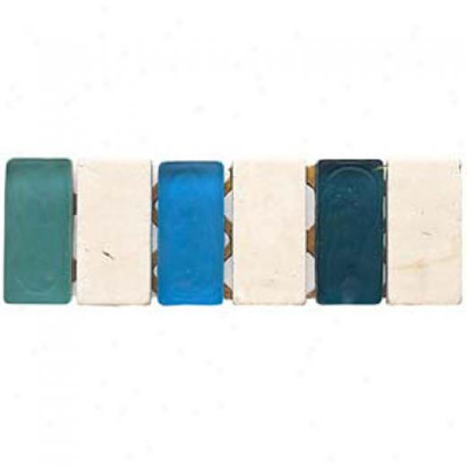 Alfagres Tumbled Marble Gema Series - Glass Inserts Boticcino Ocean Blue Sky Blue - Green Glass Tile & Free from ~s