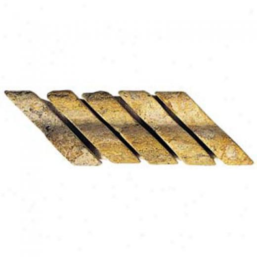 Alfagres Tumbled Marble Gema Series - Glass Imserts Dorado Tile & Stone